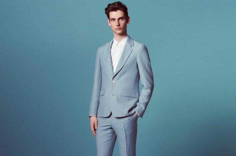 Como usar un traje gris