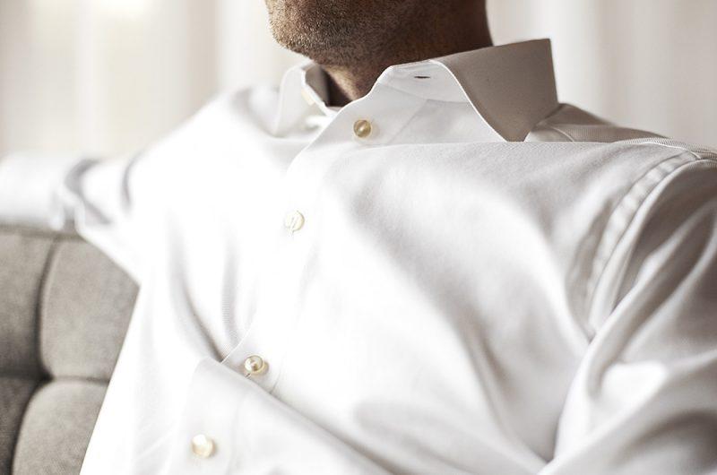 camisa de vestir blanca para hombre