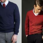 suéter cuello v