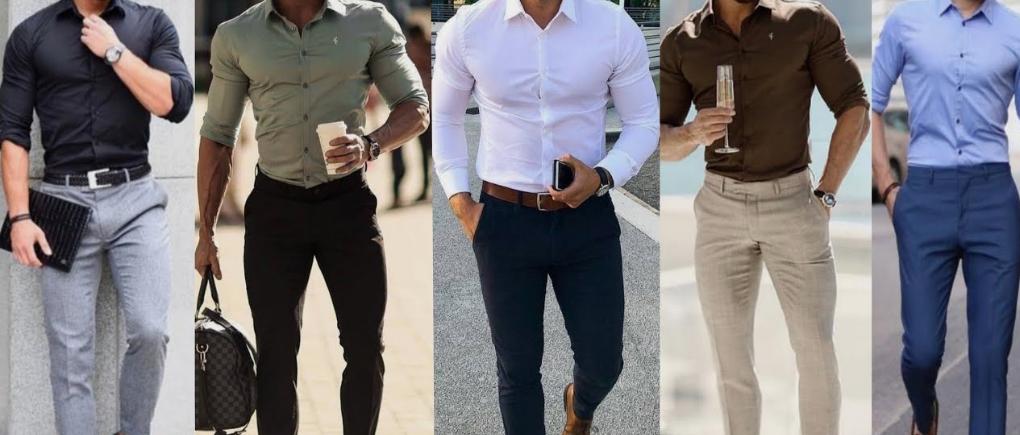Hombres con diferentes estilos de camisa.
