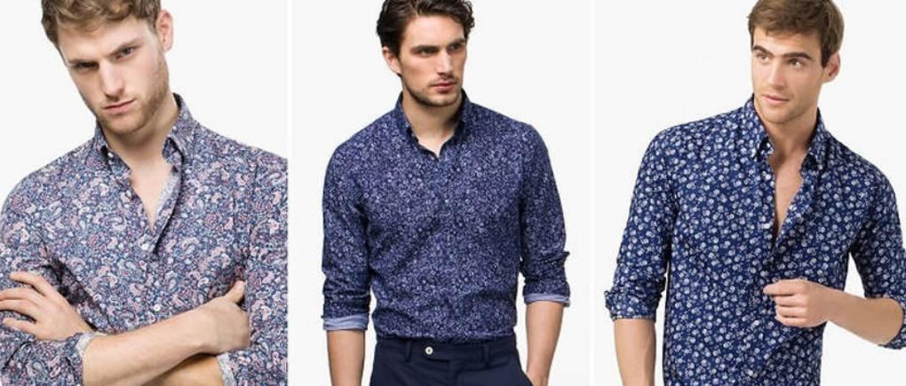 Hombres con camisas estampadas.