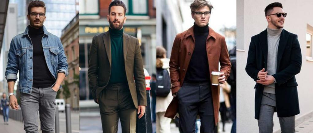 Hombres con diferentes suéteres.