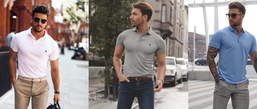 Hombres con diferentes estilos de camisa polo