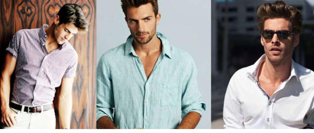Hombres con camisas de distintos estilos.