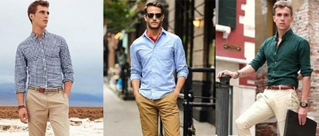 Hombres con ropa de talla correcta.
