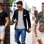 Hombres con diferentes estilos de ropa.