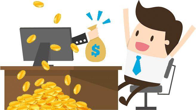 hombre ganando dinero