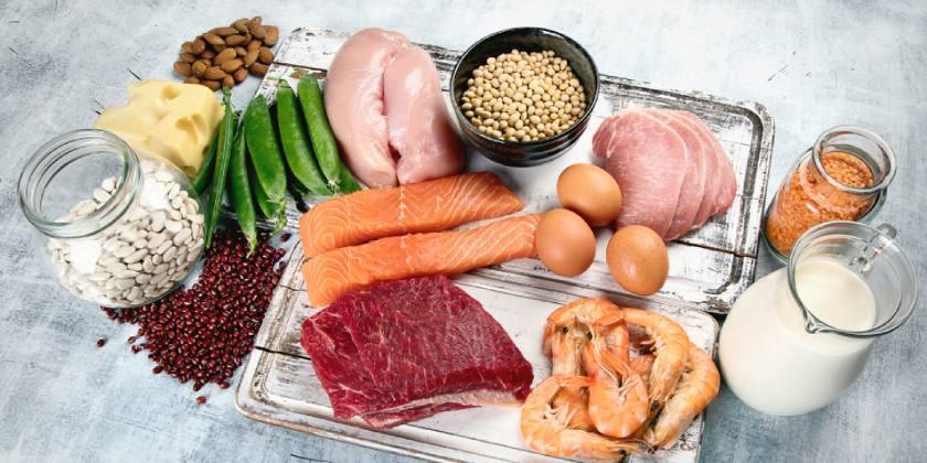 Mucha carne magra y pescado