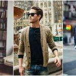 Hombres con suéter y jeans